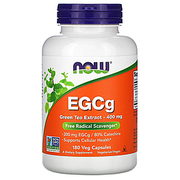 EGCg Green Tea Extract 400 мг Now Foods 180 капсул
