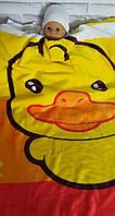 Одеяло детское двустороннее теплое плюшевое в кроватку и коляску 95х140 см
