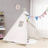 Детская палатка Tipi Вигвам (Белая)