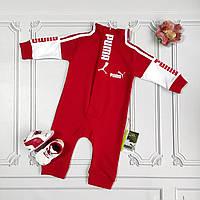 Красный ромпер Puma для новорождённых, фото 1