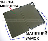 Черный бизнес чехол книжка для Samsung Galaxy Tab A7 10.4 2020 (Sm-T500 SM-T505) Ivanaks Tri Fold black, фото 3