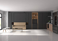 Шкаф-кровать трансформер с раскладным столом и диваном, фото 1