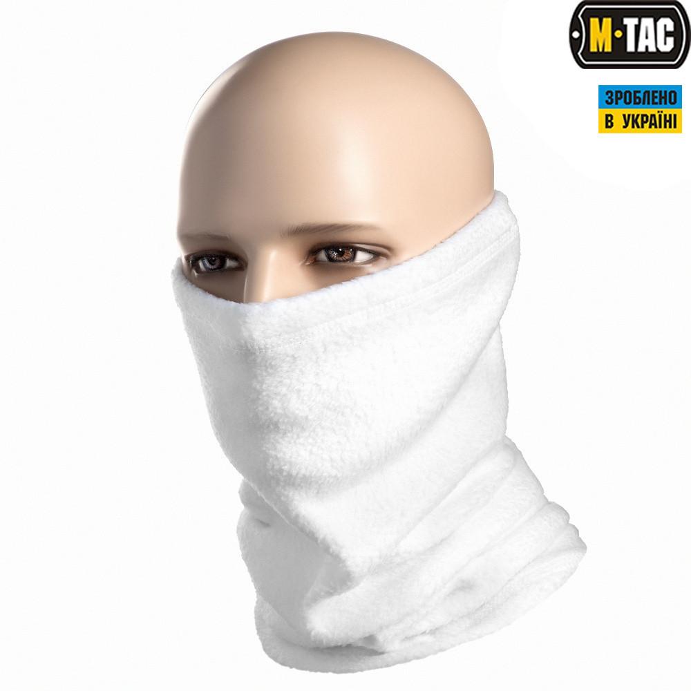 M-Tac шарф-труба с затяжкой флис (260г/м2) белый