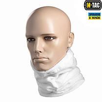 M-Tac шарф-труба с затяжкой флис (260г/м2) белый, фото 2