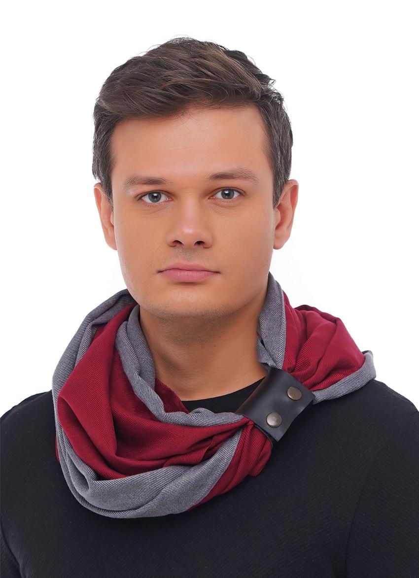 "Кашемировый шарф ""Милан "", шарф-снуд, шарф бактус"