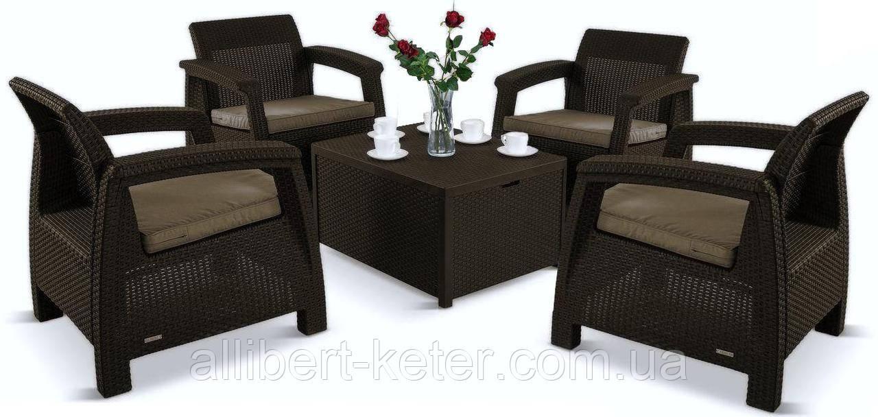 Комплект садовой мебели Allibert by Keter Corfu Quattro Box Set