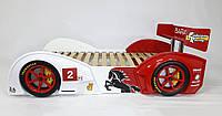 Кровать-машина Baracca-160 бело-красная