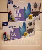 Перчатки нитриловые TULIP Италия 100 шт, размер L синие или голубые