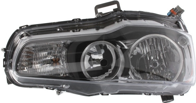 Фара передняя Mitsubishi Lancer X 2007- правая HB4/HB3 черная рамка. электр. регул  214-1190R-LDEM2