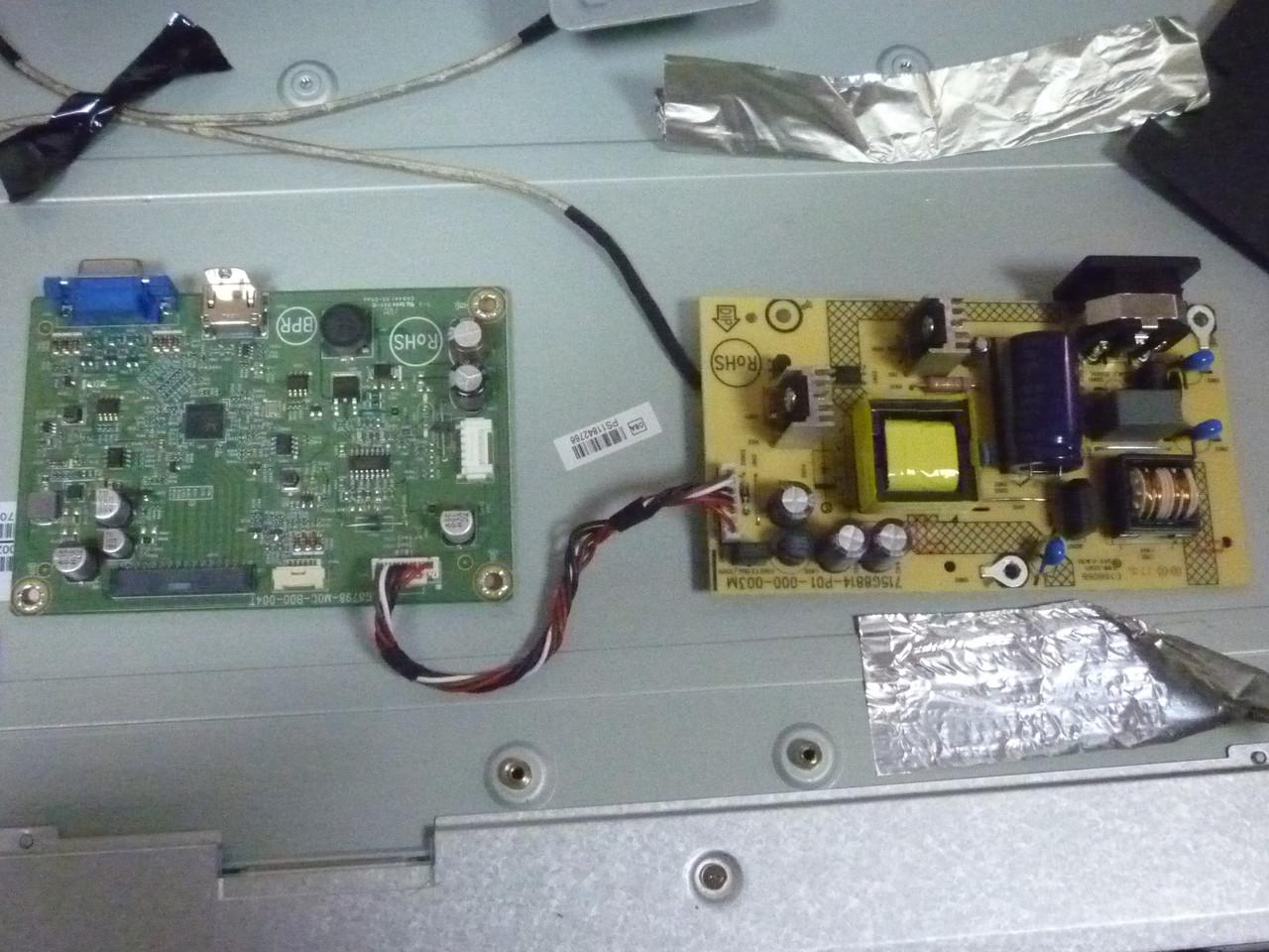 Платы от LED монитора 23.8 HP 24w (1CA86AA) поблочно, в комплекте (повреждена матрица).