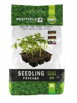 Торфяной субстрат Для рассады, 10 л — для выращивания и пересадки растений, PEATFIELD