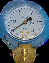Манометр МП-50 2,5 МПа (кислород) 25 атм