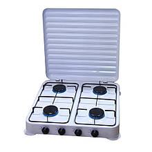 Настольный газовый таганок плита А-плюс на 4 конфорки
