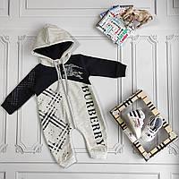 Ромпер Burberry для новорождённых, фото 1