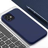 Магнитный силиконовый чехол Nillkin для iPhone 12 mini (5.4″) Flex Pure Pro Magnetic Case Blue, фото 6