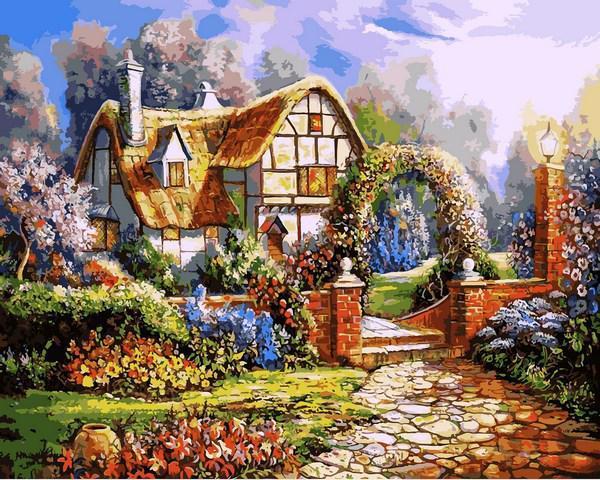 Картина рисование по номерам Babylon Сказочный сад 40х50см VP1091 набор для росписи, краски, кисти, холст