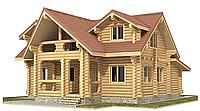 Дом из дикого сруба 12,4x12