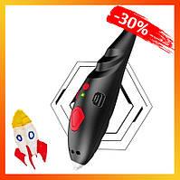 Ручка 3D аккумуляторная с трафаретом в комплекте с 8-ью цветами пластика для рисования в воздухе для детей.