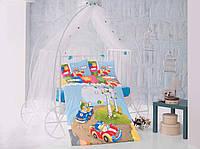 Постельное белье в детскую кроватку 100*150 Хлопок (TM Clasy) Racetime, Турция