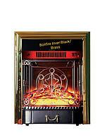 Електрокамін Bonfire Inver Black/Brass