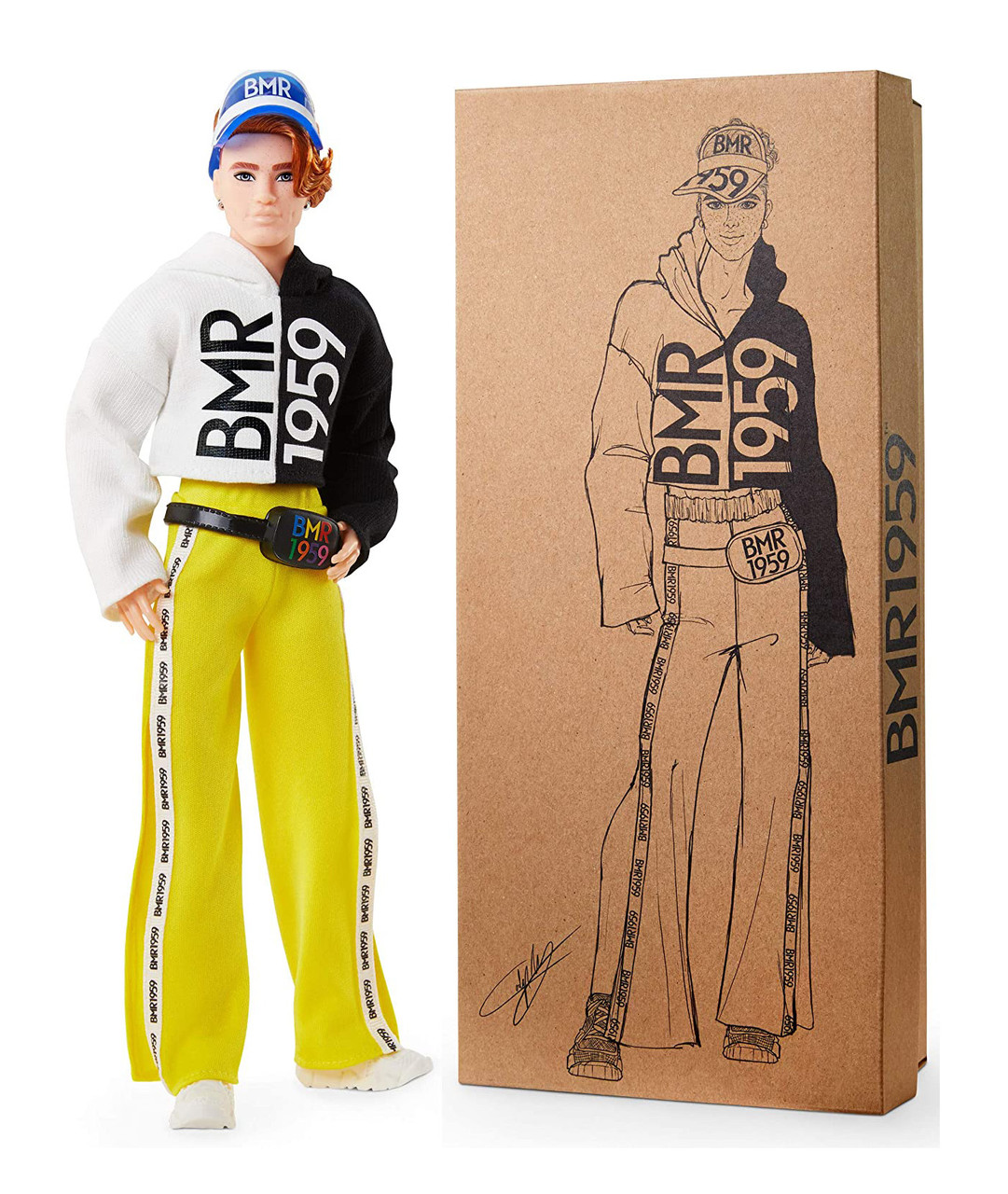 Кукла Барби Кен  Barbie BMR1959 Hoodie, Track Pants & Visor Fashion Doll оригинал от Mattel