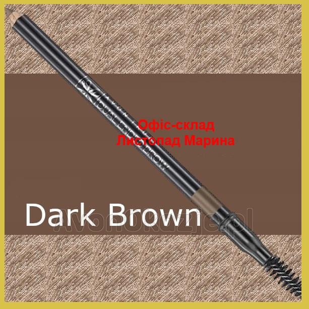 Карандаш для бровей с щеточкой Avon True Dualended Brow Pencil,  Dark Brown/Темно-Коричневый 1.08 г