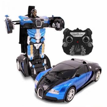 Машинка Трансформер Bugatti Robot Car с пультом