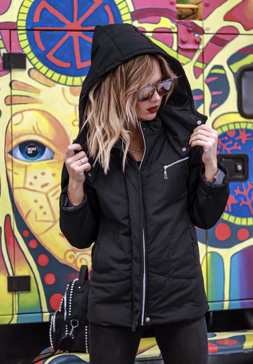 """Женская стильная куртка демисезон """"Канада Капюшон Стойка Кнопки"""" в расцветках (DG-ат 0468)"""