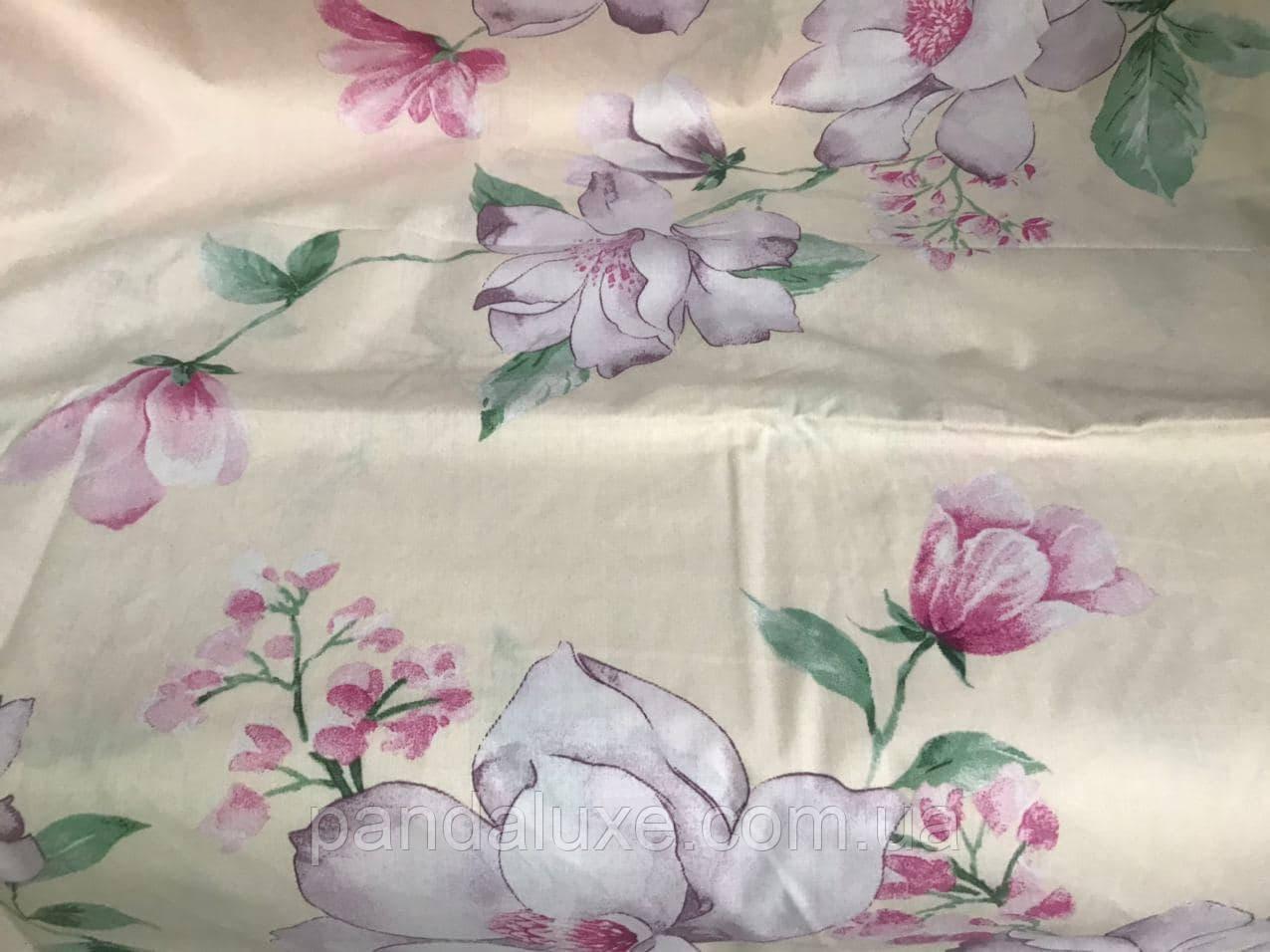 Постільна білизна, гарний полуторний комплект Квіточки