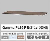 Стеклянная полка прямоугольная Commus PL19 PВ (210х1000х8мм)