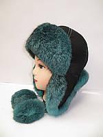 Молодежная шапка ушанка меховая  Модель 15