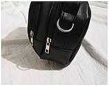 Маленькая черная вместительная сумка, фото 3