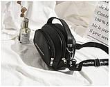 Маленькая черная вместительная сумка, фото 4
