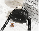 Маленькая черная вместительная сумка, фото 8
