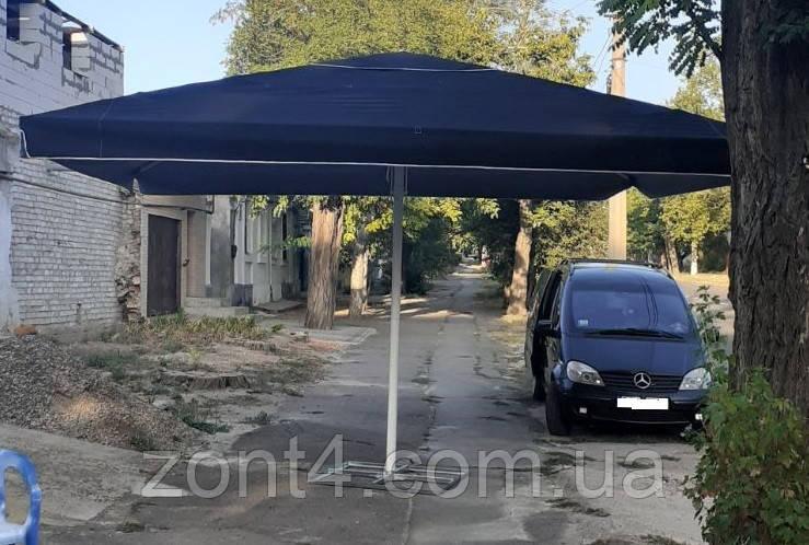 Торговый зонт 5х5 метров с новым тентом