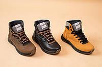 Подростковые ботинки кожаные зимние оливковые CrosSAV 328