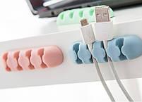 Кабельный органайзер Remax Blue для 4 кабелей, фото 3