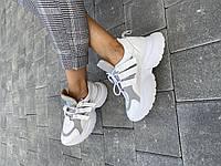 Женские ботинки кожаные весна/осень белые Mkrafvt Fashion 2142