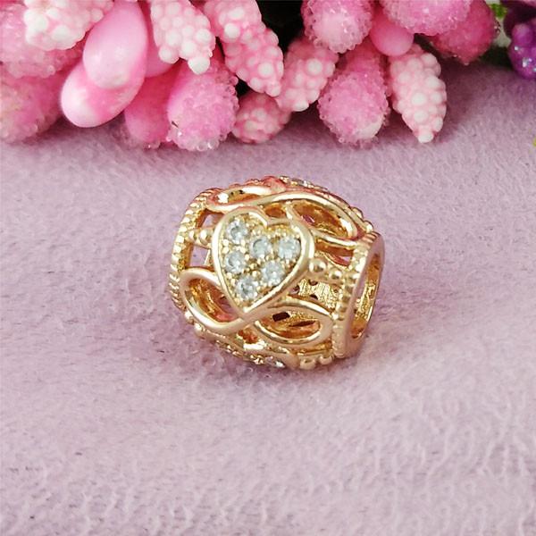 Кулон шарм Xuping Jewelry Алмазное сердечко медицинское золото позолота 18К А/В 5-0118