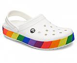 Кроксы женские Crocs Crocband бело-радужные 38 р., фото 3