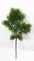 Ветка сосны --  бонсай-гигант, искусственная зеленая 36 см, фото 1