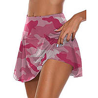Женская юбка-шорты, юбка для танцев, юбка для танцев, бальных танцев, сальсы, танго, скейт, джайв, конте