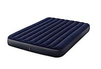 Матрас надувной двухместный Intex 64765/64759 152х203х25 см + ручной насос   Матрац надувний двомісний