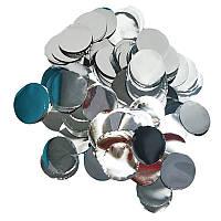 Конфетти Кружочки 12мм серебро 50г