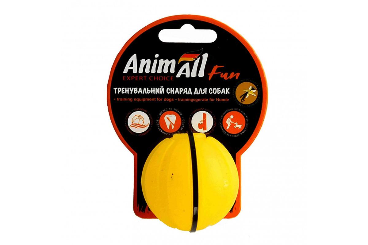 Анималл Фан м'яч тренеровочный 5см жовтий