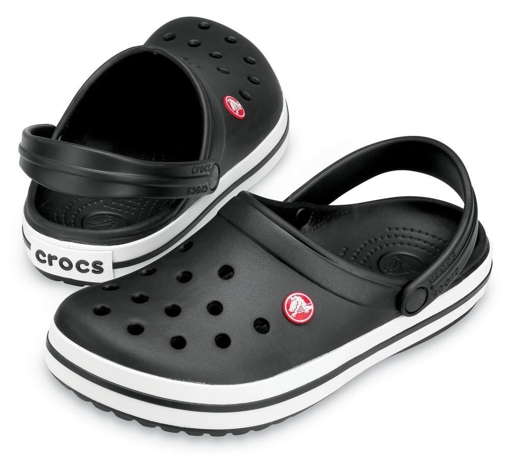 Кроксы летние Crocs Crocband черные 38 р.