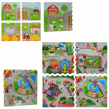 Коврик-пазл для малышей  Детский игровой коврик Коврик для детей Коврик для детской Игровой коврик