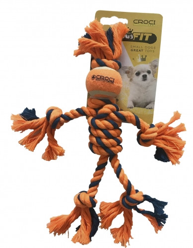 Игрушка для мелких собак мини канатный человечек 25см, Croci