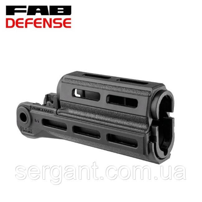 Тактическое цевьё-квадрейл пластиковое Fab Defense VANGUARD M-LOK (без планок) для АК