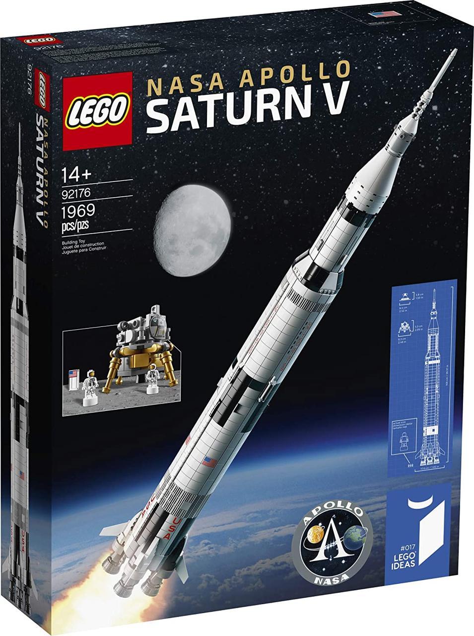 Конструктор LEGO Ideas 21309 Ракетно-космическая система НАСА «Сатурн-5-Аполлон»